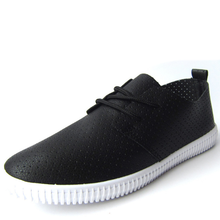 durable breathable summer PU upper small white black shoes women's