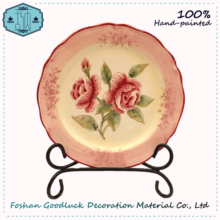 Best-Selling Hand Painted Wholesale Pink Charger Plates Wedding