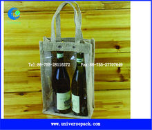 Two bottles burlap wine bags wholesale