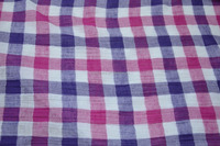 ramie cotton yarn dyed woven dobby fabric for dress & blouse