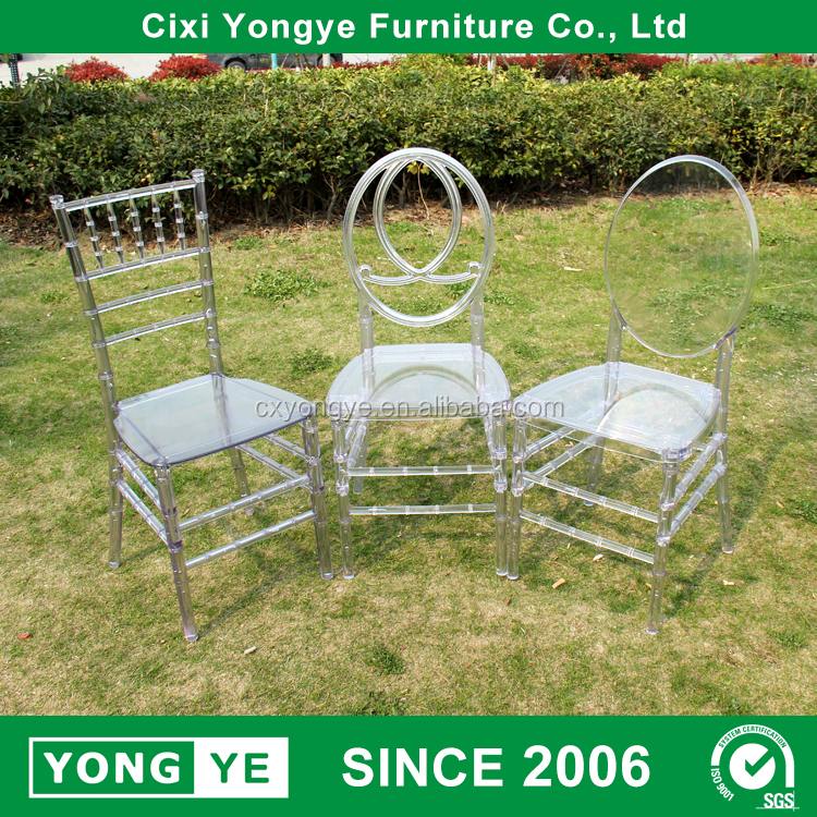 Wholesale prices wedding decoration ghost plastic chair