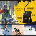 SHOOT Professional GoPro Sports Selfie Camera Backpack Bag for GoPro & other action Camera