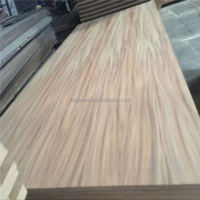 17mm natural tzalam veneer triply plywood panel