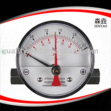 New Design Probe Waterproof Double Needle Magnehelic Pressure Gauge