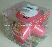 promotional printed recycle plastic gift box,eco-friendly cake box,transparent plastic box