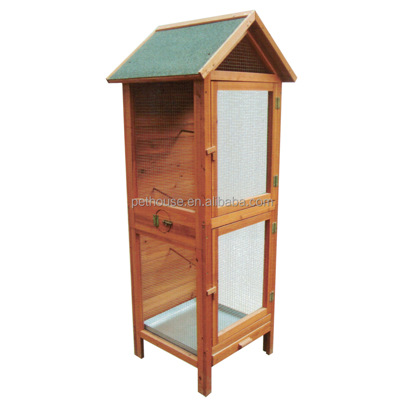 Quality Assured Wooden aviary cheap pet birds cage