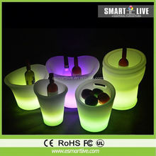 Color Changing LED Light Ice Bucket for Beverages 750ml wholesale beer bucket