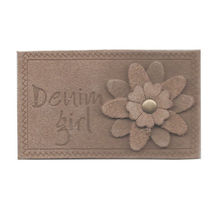 custom design leather label for jeans