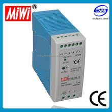MDR-60-5 miwi 60w 5v 12v 24v 48v dc din rail mounted 2 years warranty 220v ac to 5v dc power supply