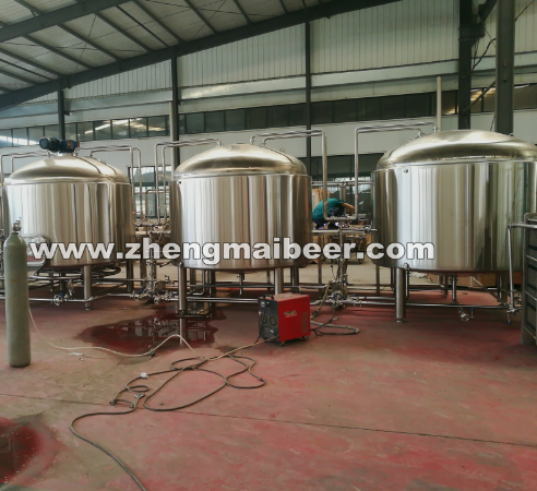 20BBL Jinan Beer Machine Stainless Steel Mash / Lauter Tun For Brewing House