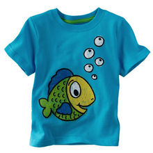 brand new boys t-shirts kids fish cartoon tops children clothes