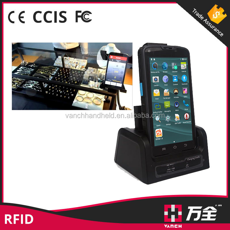IP65 Rugged 4G WIFI Android 1D 2D Barcode Mobile UHF RFID Reader