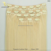 Hot Selling Goldena Supplier Direct Factory Top Quality No Shedding No Tangle orange clip in hair extension