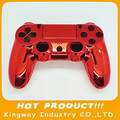 Replacment Chrome Shell For PS4 Controller Housing Case Electroplate Red