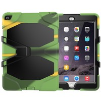 Colorful Tablet case Heavy Duty PC Silicone Case For iPad air2
