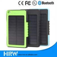 HRW portable high capacity outdoor waterproof floodlight key chain 8000mah solar charger power bank