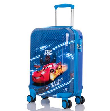 OEM Car Printiing Design Hard Waterproof luggage for boys kids