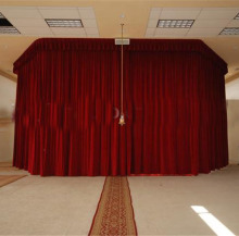 customized stage velvet curtain with motor for drapery