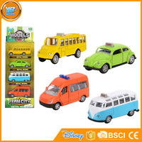 Yibao 4pcs metal diecast model 1:64 scale alloy toy car for children