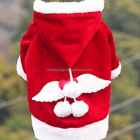 Winter pet coat, pet Christmas sweater clothes with wings on back, dog christmas costume