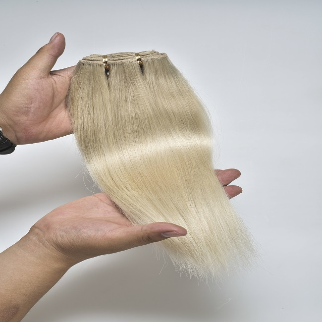 China suppliers liquidation stock double drawn hair weave, buy in india cash on delivery human remy hair extension weft blonde