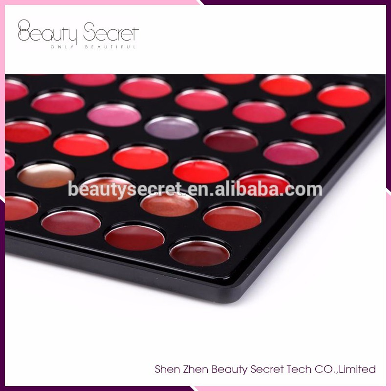 Hot Sale 66 Colors Make Your Own Private Label Lip Gloss Palette