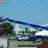 portable 4x4 telescopic boom lift platform 30m for window cleaning hydraulic man lift