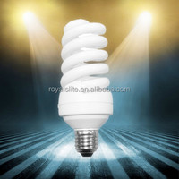 full half spiral warm light 105w cfl energy saving lamps