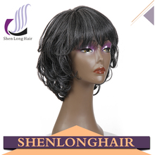 Low price high density human hair lace front hot selling lace front wig
