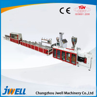 Jwell PVC (WPC) fast loading wallboard extrusion line
