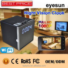 Best Selling HD 1080P WiFi Hidden Clock Camera Mini Spy Camera Nanny Camera with APP Remote control