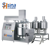 Automatic Cosmetic Cream Vacuum Emulsion Homogenizer Making Machine for Skin Care Product Shoe Polish Leather Cream Tin Can