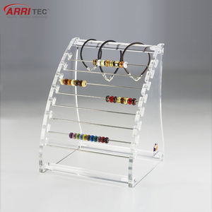 high transparent acrylic T-type bracelet holder clear acrylic ring display rack ring