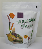 Vegetable chips/dried vegetable stand up pouch ziplock bag