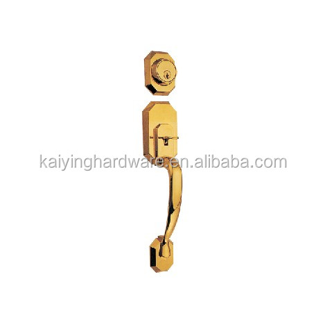 Door handle lock polished brass handle entry lock KY8011-PB