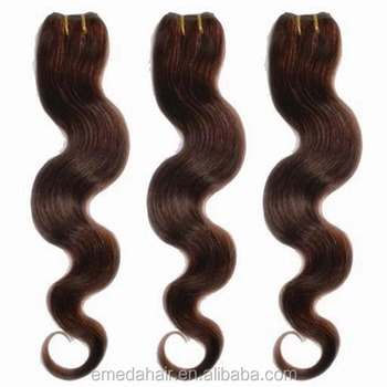 Luxe fame hair aliexpress cheap virgin brazilian hair weave for sale color #4 two tone colored brazilian hair weave