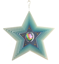 Whole slae stainless steel wind spinner--Star w/gazing ball
