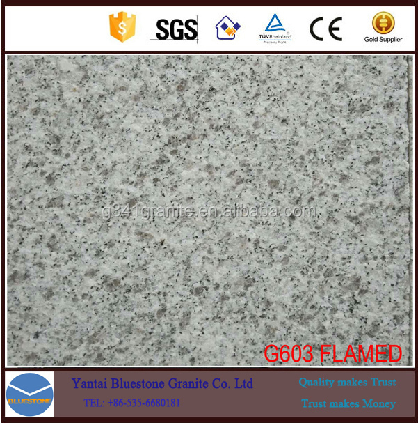 Chinese 603 granite paving stones,20% Discount white granite tiles