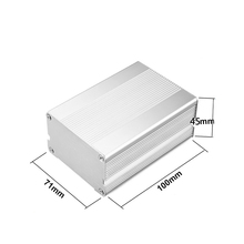 Customized diy aluminum extruded project enclosure and electrical junction box for pcb