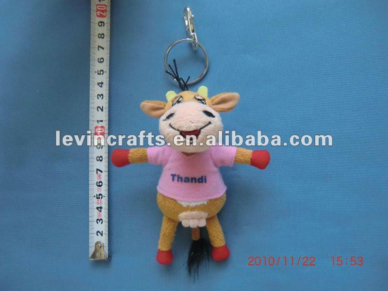 happy animal stuffed key chain for promotion