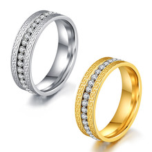 2017 Mens Engagement Wedding Rings with Great Wall Surface ,Crystal Finger Ring