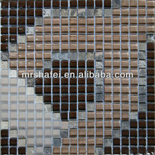 305*305 Brown crystal glass mosaic tile marble mosaic tile for showing room wall tile decoration in glass mosaic tiles UK