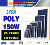 Hot selling pv poly solar panel 100w 120W 150w 200w 250w 300w 18v 36v with CE certification in Philippines market
