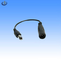high quality 5.5*2.5mm male to female dc jack audio cable for CCTV adapter