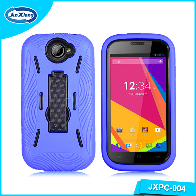 Sturdy Hard Heavy Duty PC TPU 2 in 1 Mobile Cell Phone Stand Armor Case For Blu