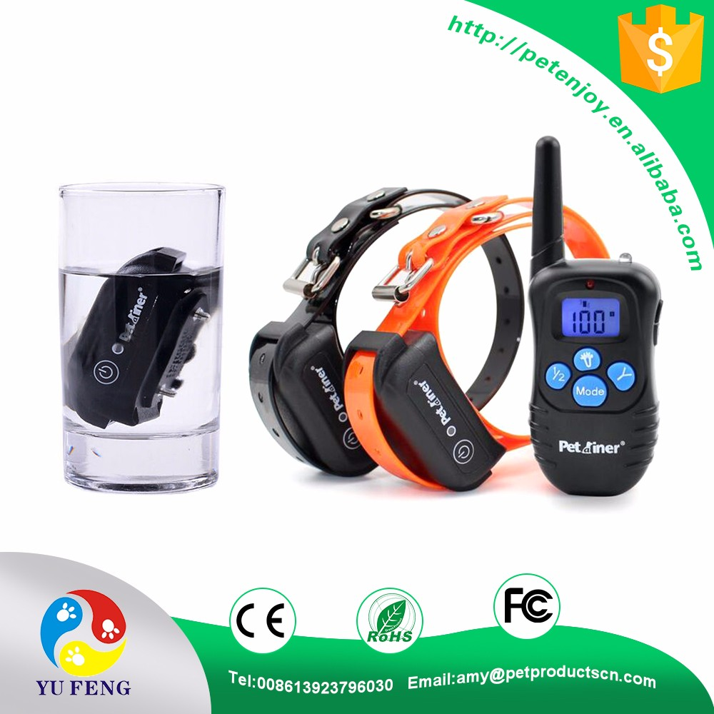 2017 Best Amazon Hot Sale Fully Waterproof Rechargeable 300 Yard Blue Button 998DRB Remote Electric Dog Training Shock Collar