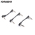 Joinaudio 6.35mm Plastic mono TS Right angle 10cm 4inch Plug Guitar Instrument Audio Patch Cable for Pedalboard Effects