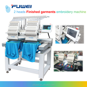 2 Head brother sewing and embroidery machine yuemei embroidery machine for flat and t-shirt