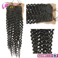 XBL Large Stock Natural Color Virgin Brazilian Curly Silk Base Closure
