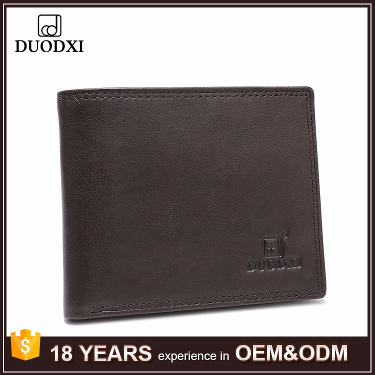Old Vintage Mens Luxury Promotion Gift Brown Wallet Cow Leather Wallet